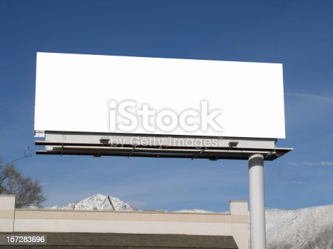 istock Blank billboard 157283696