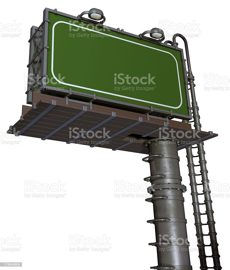 Blank Billboard  (3D) royalty-free stock photo