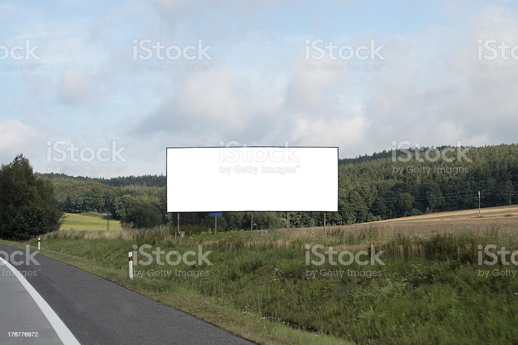 Blank billboard. stock photo