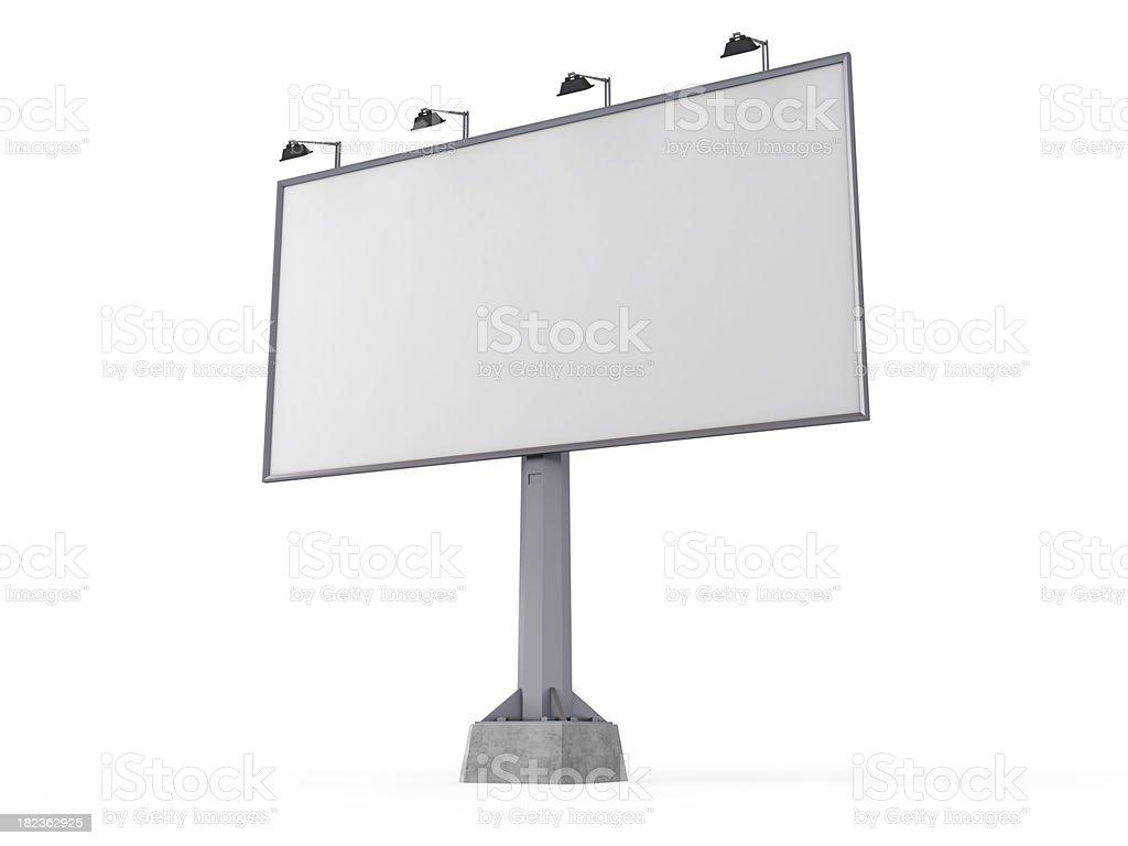 Blank billboard. royalty-free stock photo