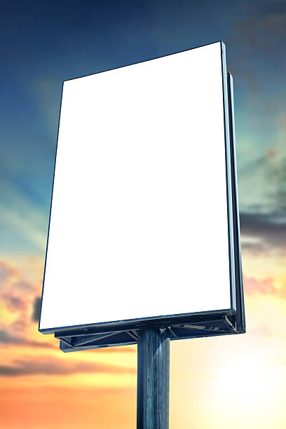 blank billboard - vertical stock pictures, royalty-free photos & images