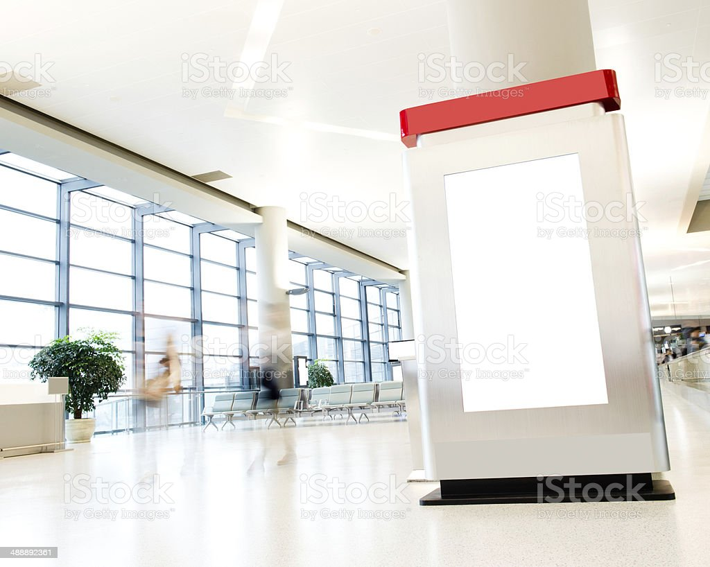 blank billboard royalty-free stock photo