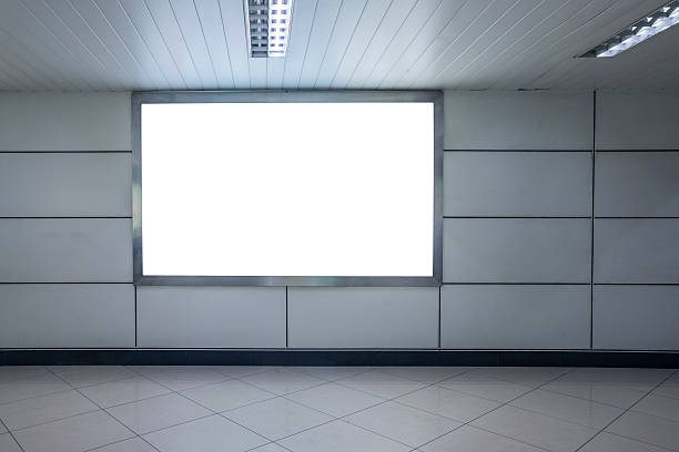 Blank billboard Blank billboard in airport electronic billboard stock pictures, royalty-free photos & images