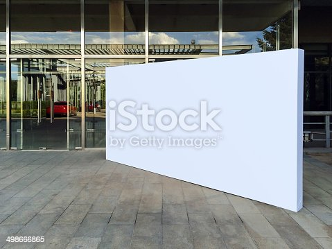 istock Blank billboard 498666865