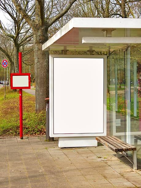 Blank billboard - foto de acervo