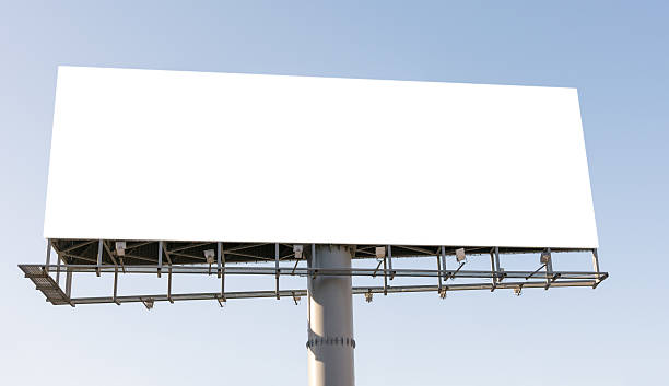 Blank billboard. stock photo