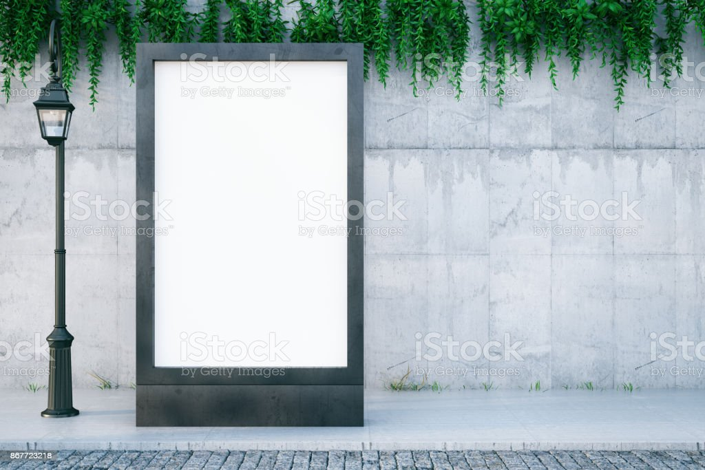 Blank Billboard - foto stock