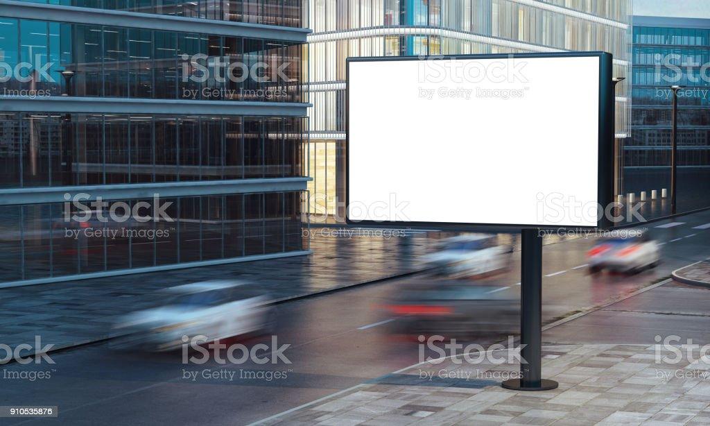 Leeren billboard  – Foto