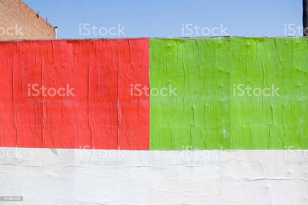 Blank billboard stock photo