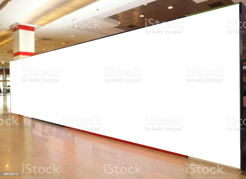 Blank Billboard Poster Displays, Advertisement Signs