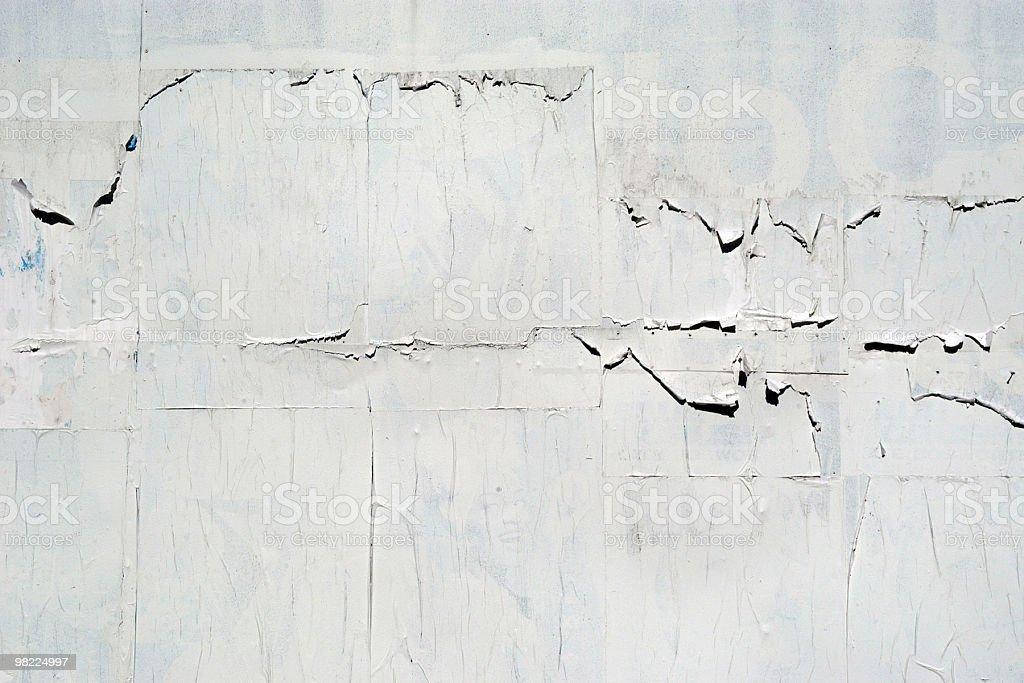 A blank billboard that is peeling royalty-free stock photo