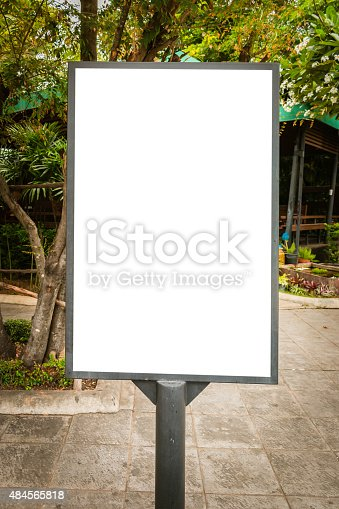 istock Blank billboard useful for your advertisement for commercial 484565818