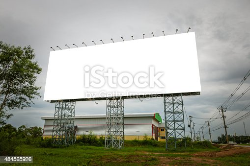 istock Blank billboard useful for your advertisement for commercial 484565926