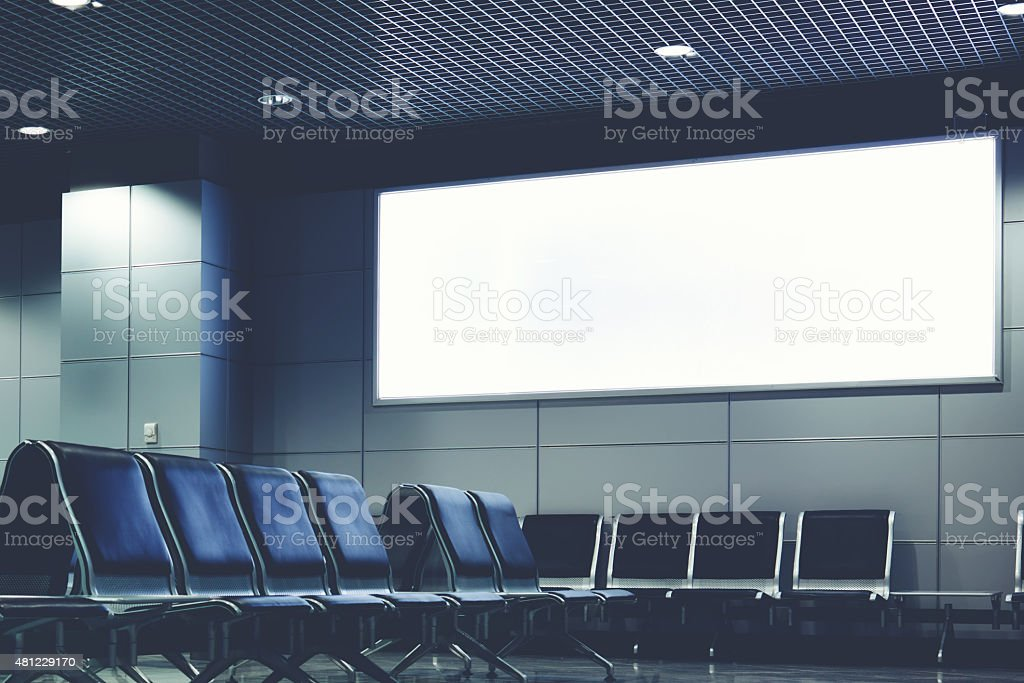 Blank billboard with clean space for text message stock photo