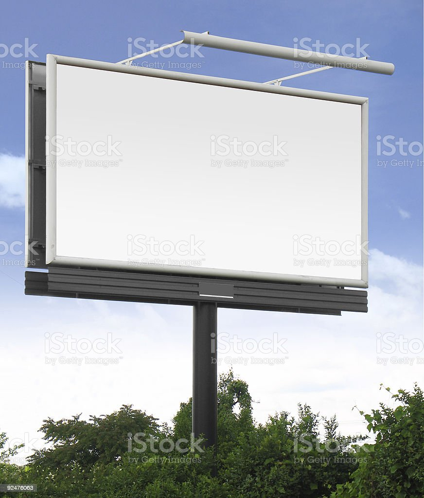 Blank billboard #1 [With clipping paths] royalty-free stock photo