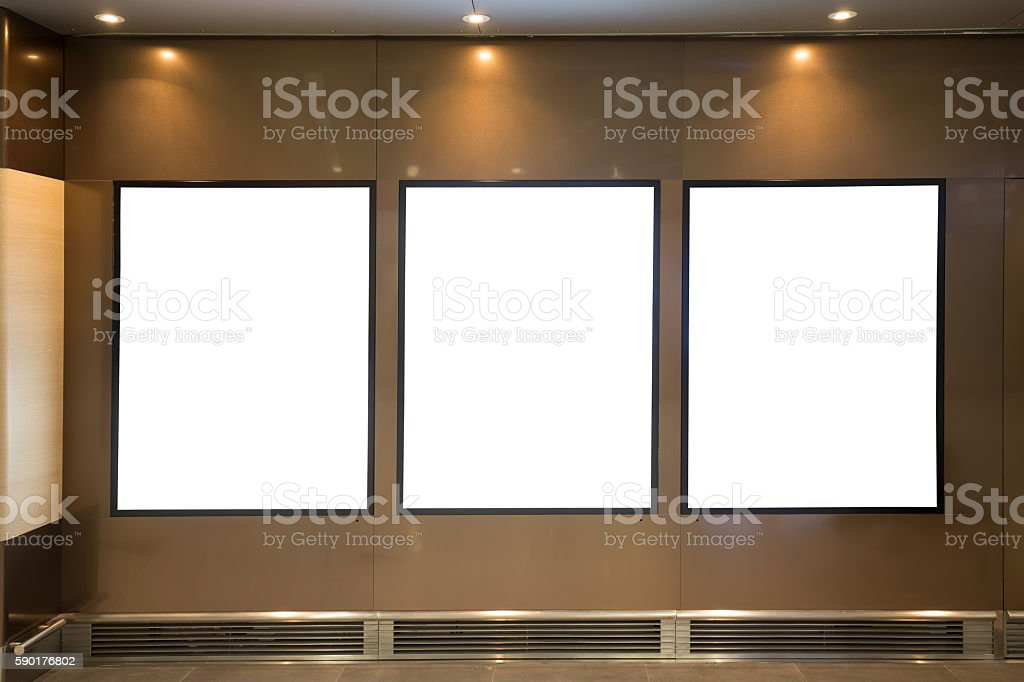 Blank Billboard with copy space stock photo