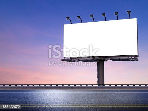 istock blank billboard with street 637422072