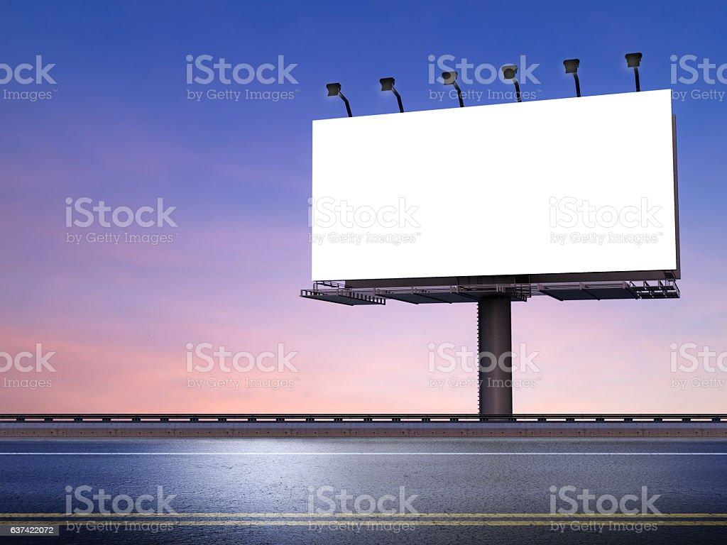 blank billboard with street stock photo