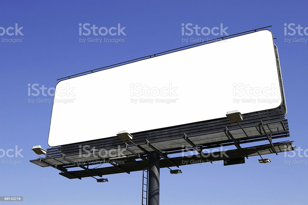 Blank billboard [with work path] royalty-free stock photo
