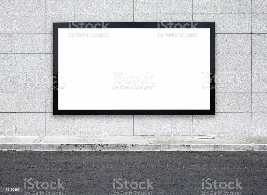 Vuoto cartellone XXXL - foto stock