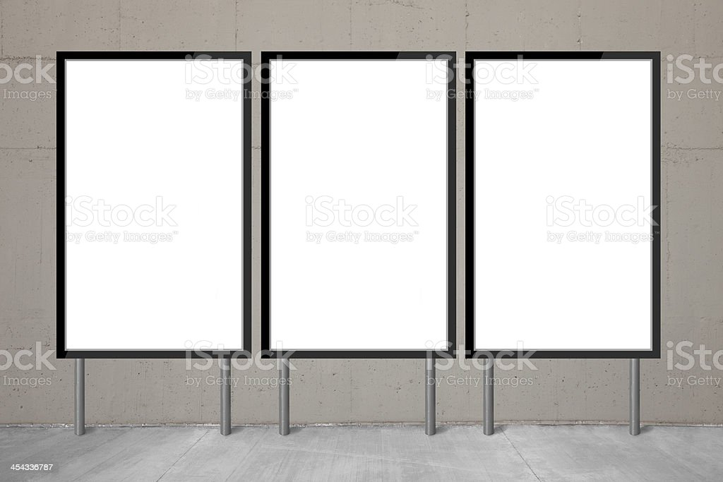 Blank billboards royalty-free stock photo