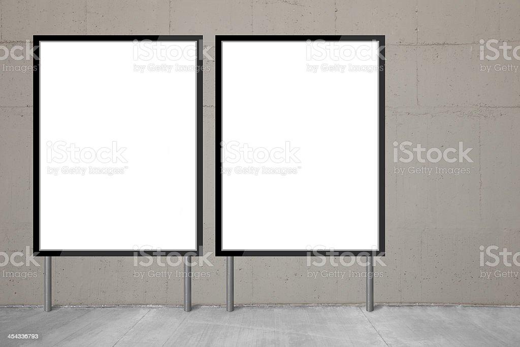 Blank billboards stock photo