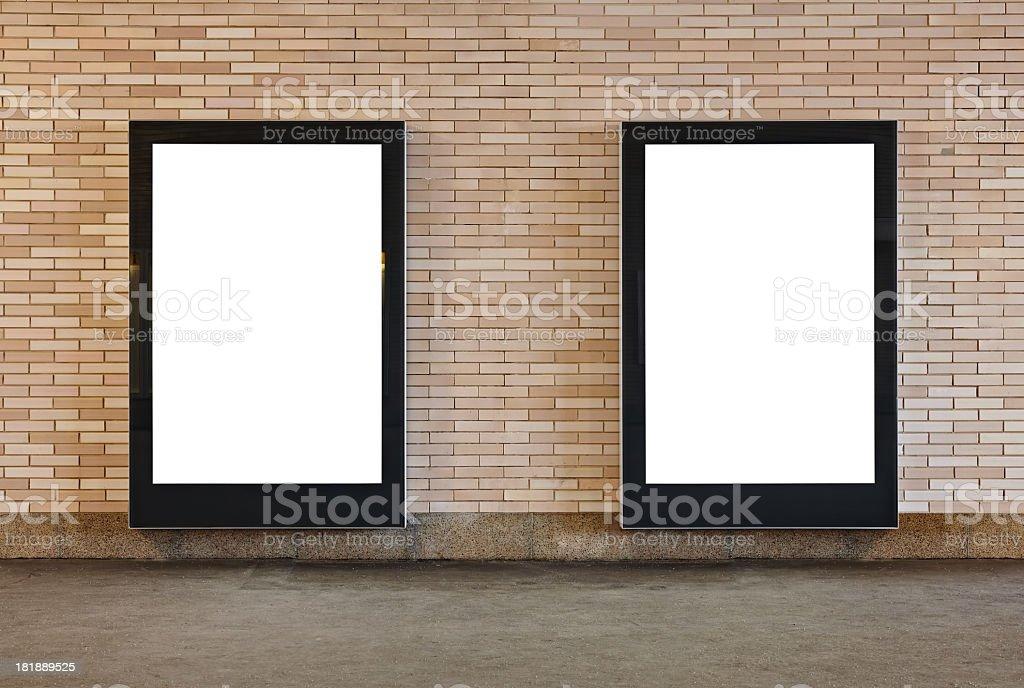 Blank Billboards XXL stock photo