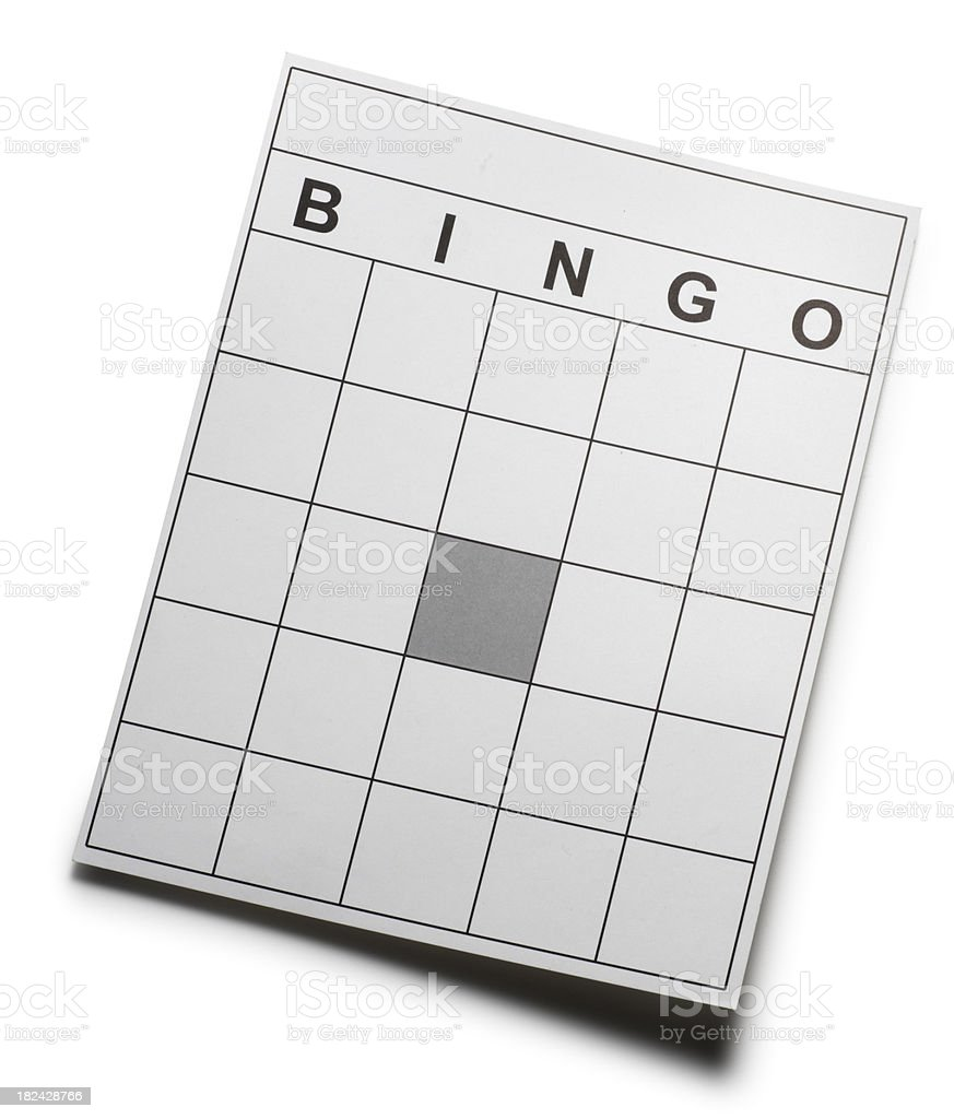 Blank Bingo Card royalty-free stock photo