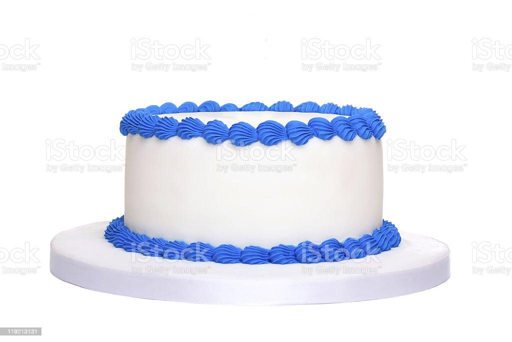 Blank birthday cake royalty-free stock photo