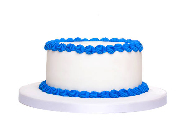 blank birthday cake - cake stock photos and pictures
