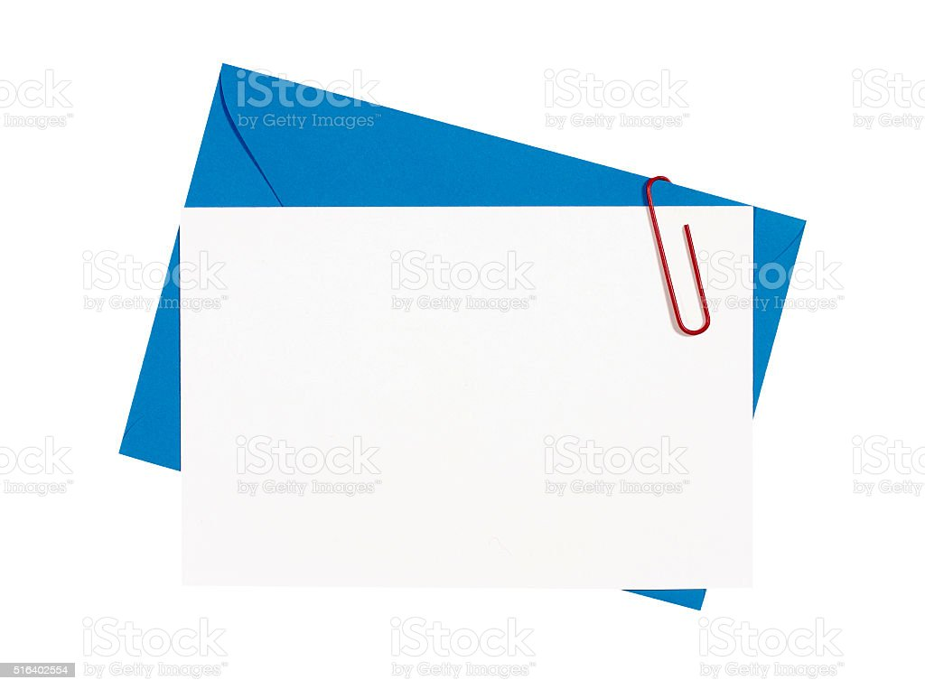 Blank birthday invitation card with blue envelope stock photo more blank birthday invitation card with blue envelope royalty free stock photo stopboris Images