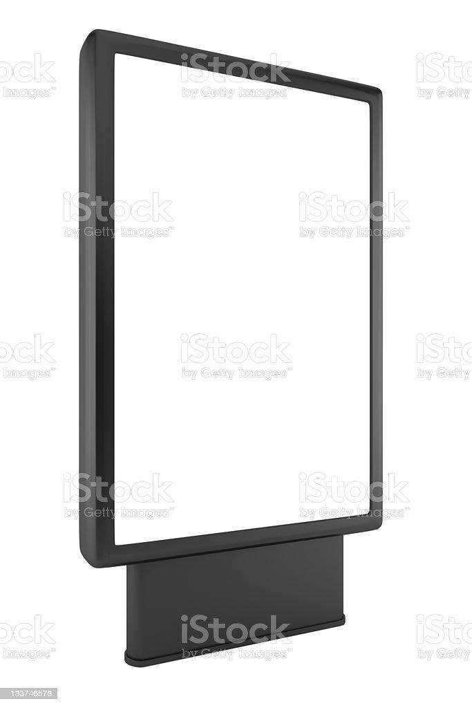 blank black advertising billboard isolated on white background stock photo