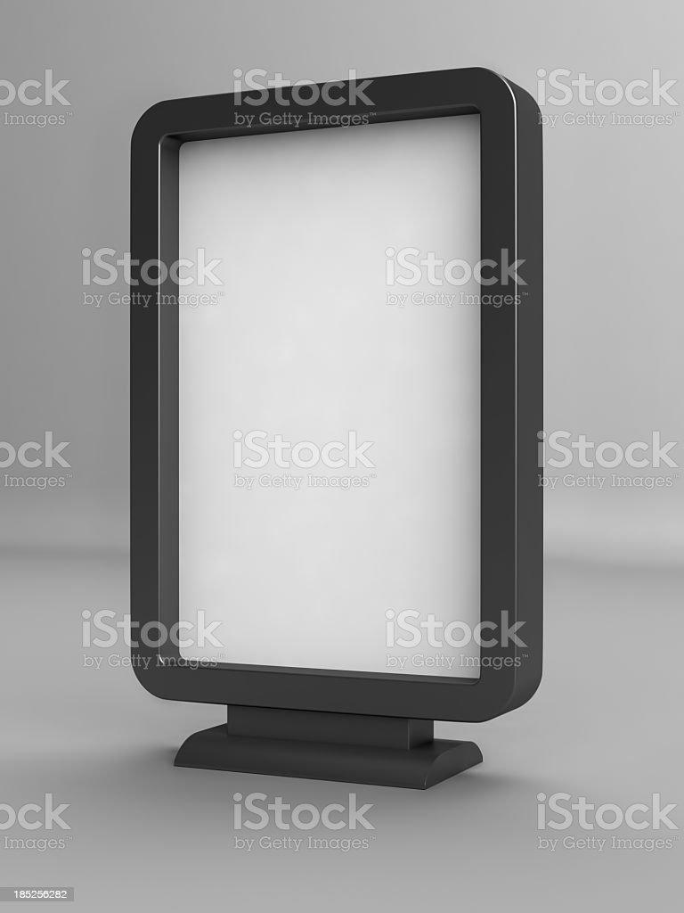 Panneau d'affichage publicitaire blanc - Photo