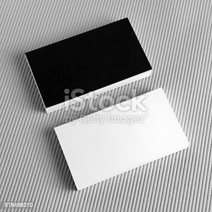istock Blank black and white business cards 518499310