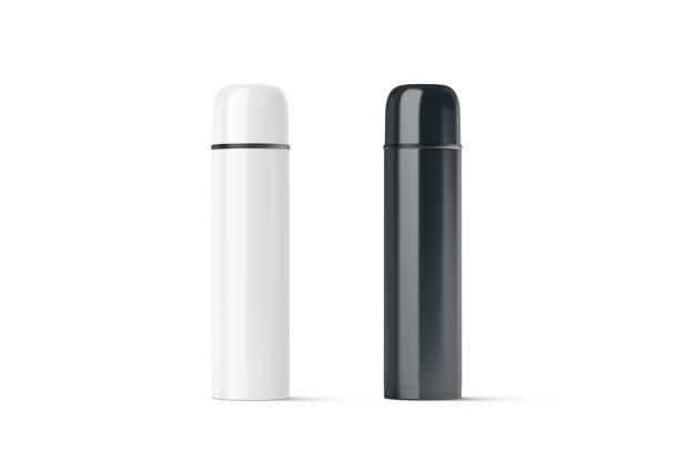 em branco preto e branco fechado simulação térmica de viagens - sports water bottle - fotografias e filmes do acervo