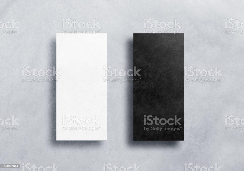 Blank black and white dl flyers mockups set stock photo