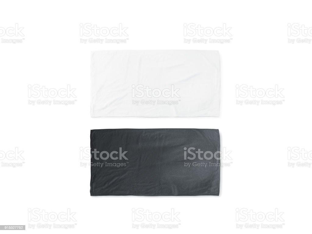 blank white beach towel. Blank Black And White Folded Soft Beach Towel Mockup Royalty-free Stock  Photo Blank
