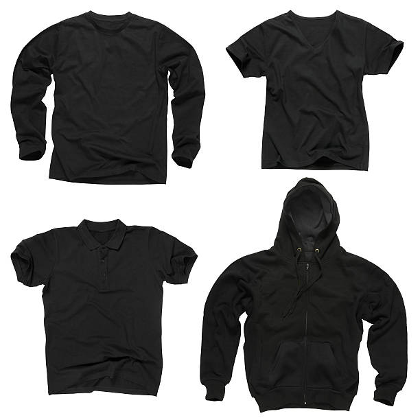 blank black clothing - sweatshirt stock photos and pictures