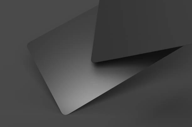 Blank black credit card stock photo