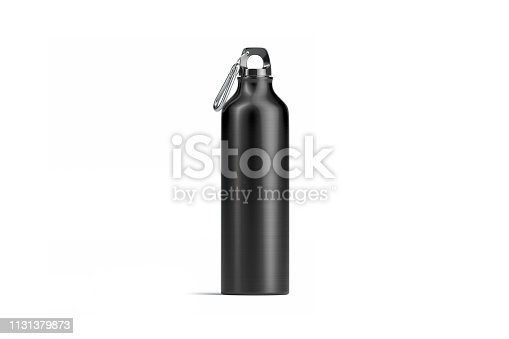 1129148925istockphoto Blank black metal sport bottle mock up, isolated, front view 1131379873