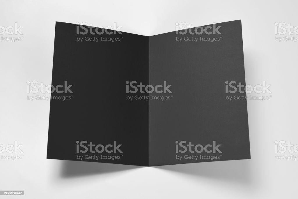 Blanc noir carte ouverte - Photo