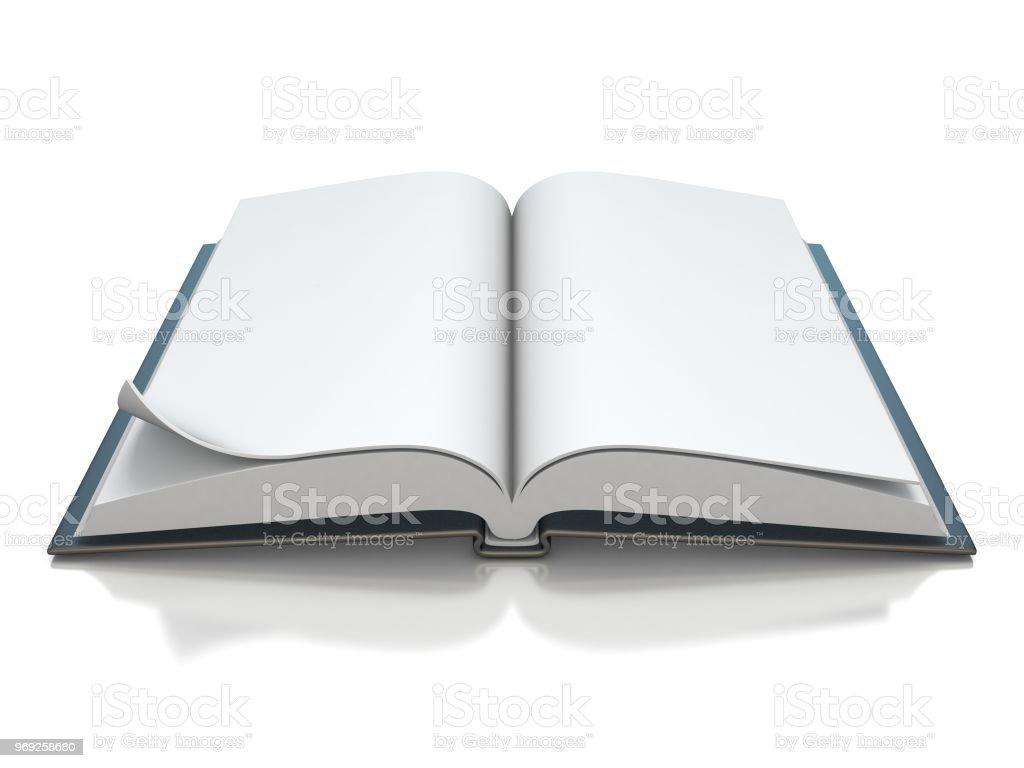 Photo Libre De Droit De Blanc Noir Ouvert Livre 3d Banque D