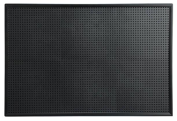 Leere schwarze Stecktafel Schild isoliert auf ein Weißer Hintergrund – Foto