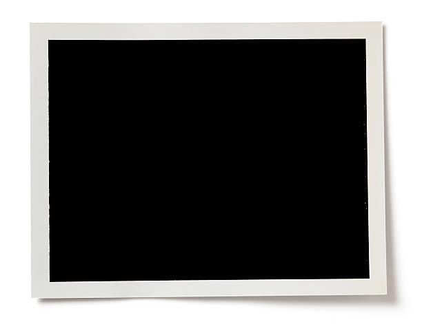 blank black photo with a white border on white background - 摄影 個照片及圖片檔