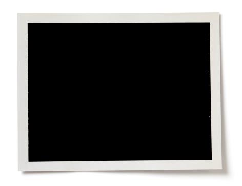 Blank Black Photo With A White Border On White Background 照片檔及更多 俯視 照片