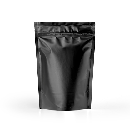 Packaging template mockup collection. With clipping Path included. Black coffee package.