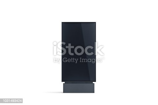 istock Blank black pylon display mock up, front view, isolated 1031493424