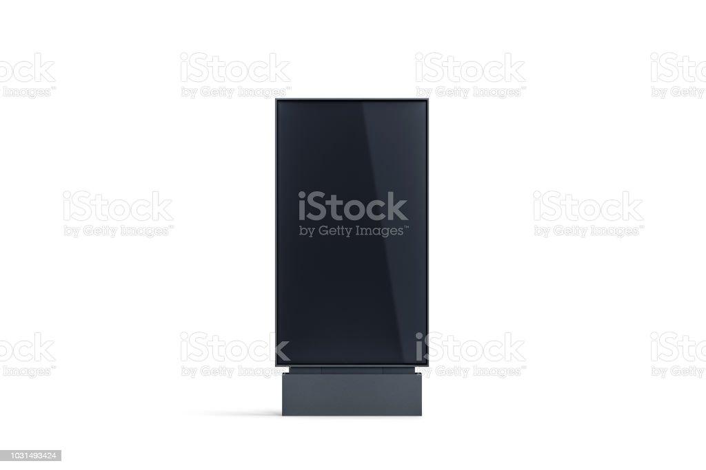 Pylône noir blanc affichage simulé vers le haut, vue de face, isolé - Photo