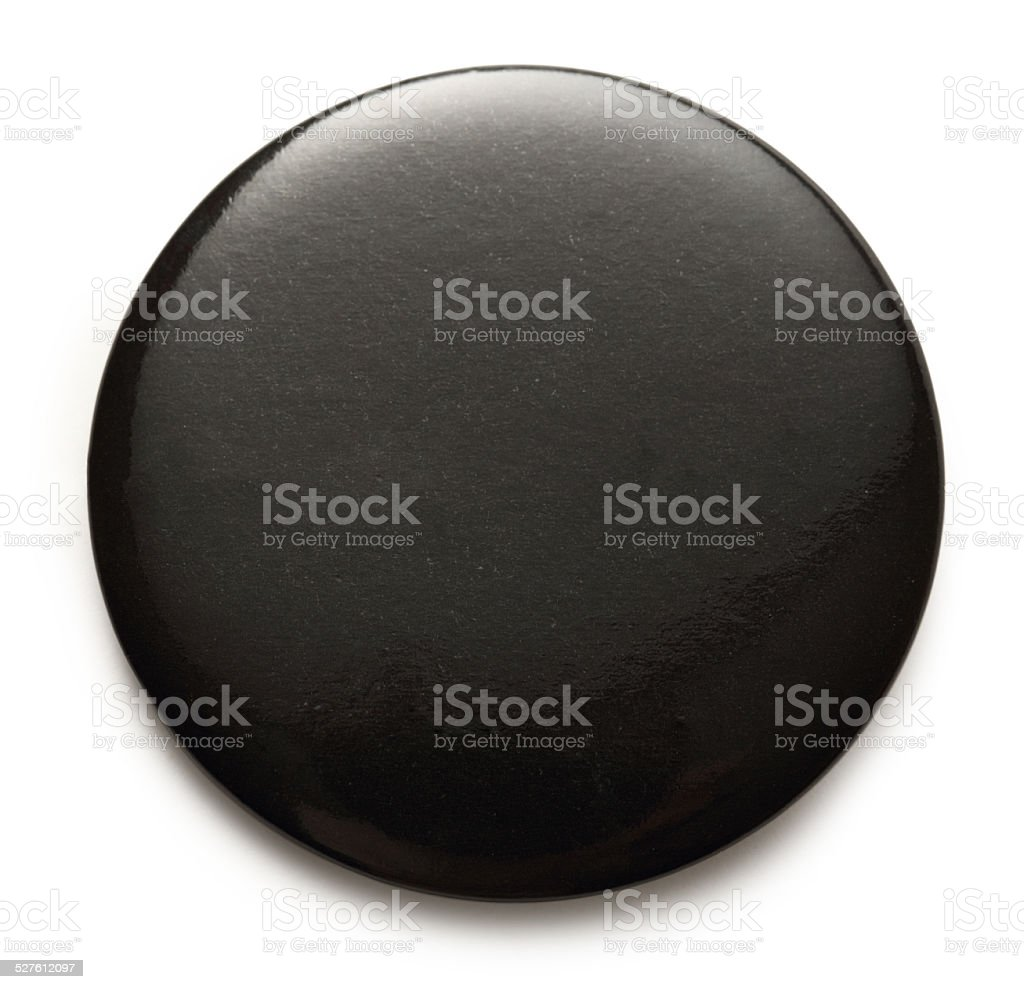 Blank black round badge stock photo