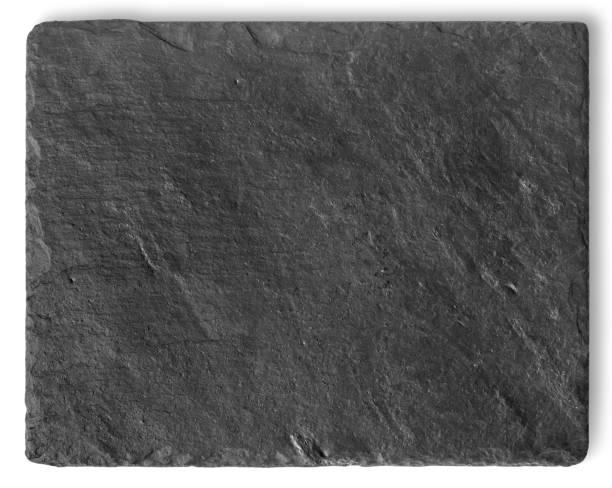 leere schwarze stein schiefer platte - schiefer fliesen stock-fotos und bilder